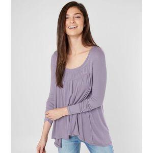 Free People Long Valley Long Sleeve Top in Purple